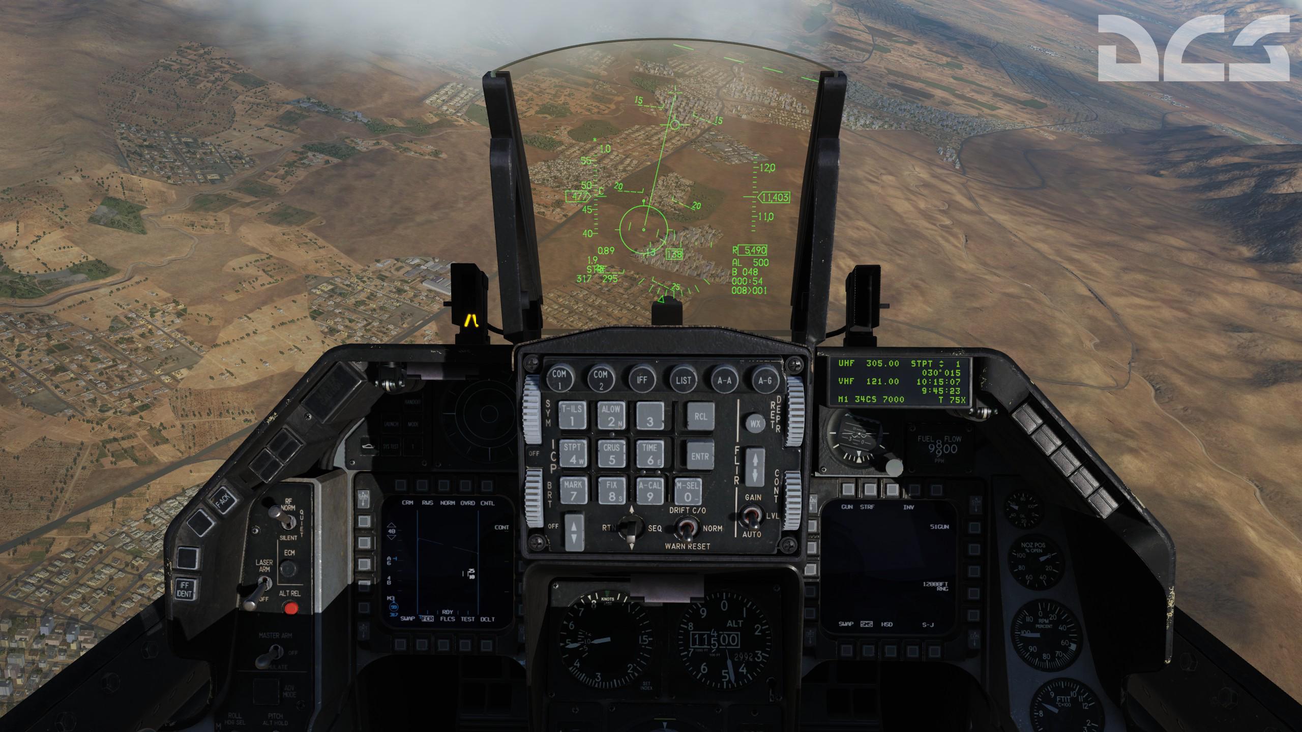 DCS F-16C Viper – Кабина