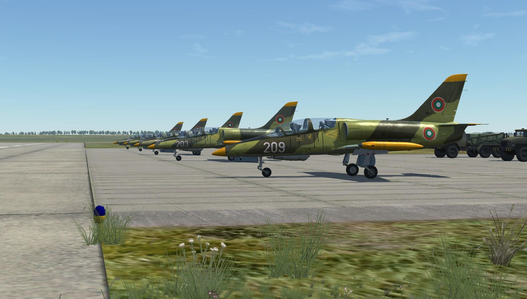 Скинове за L-39ZA, Български ВВС