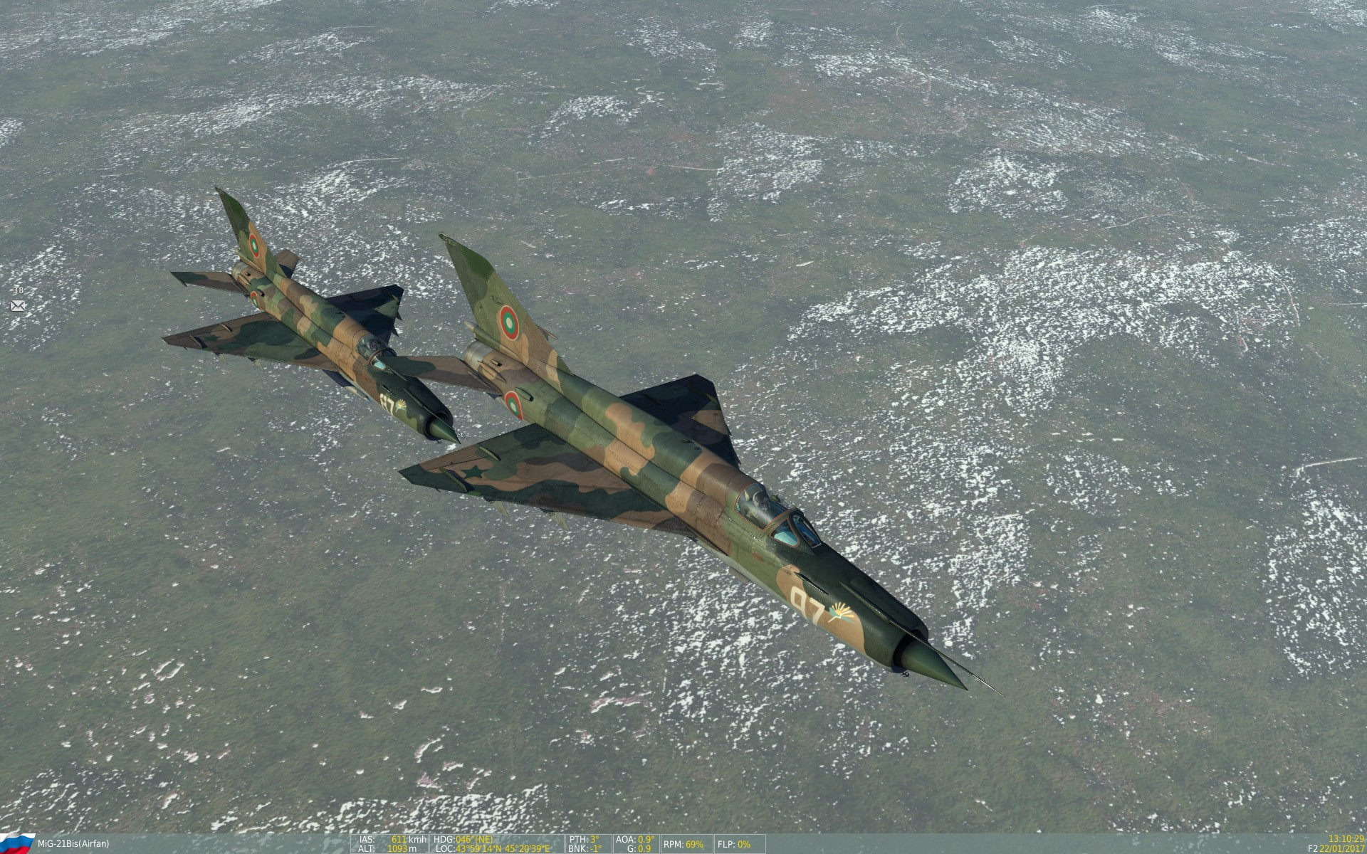 Training flights with MiG-21