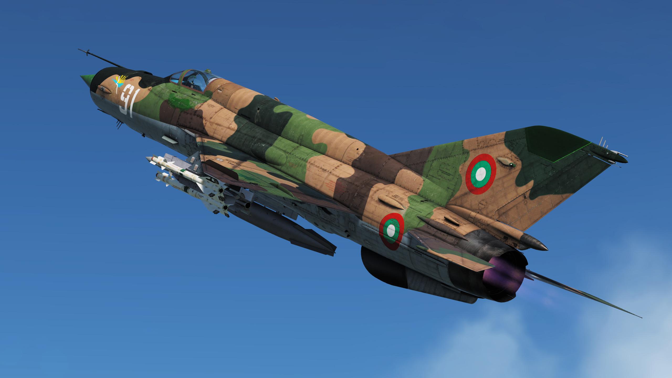Нов скин за МиГ-21бис – борд 91 – 6-та Авиобаза Балчик